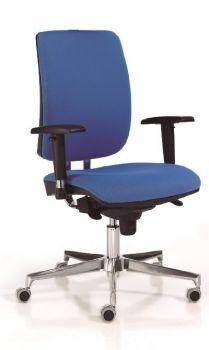 Silla de Oficina Signo+ ergonómica, giratoria, con brazos color azul frente