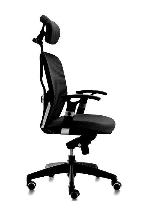 SIlla de oficina Boston color negro ergonómica, giratoria
