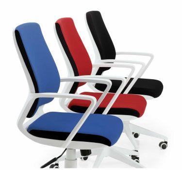 Silla de oficina acolchada giratoria económica modelo París en tres colores