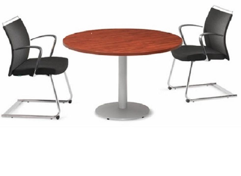 Mesa de reuniones redonda New Pano con pata de acero