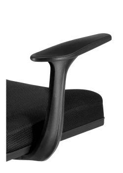 Silla de oficina Roma color negro ergonómica detalle de posabrazos fijo