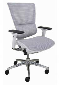 Silla de oficina s.iOO Cuerpo blanco, malla blanca diagonal