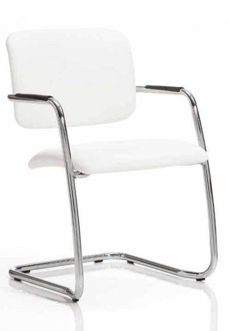 Silla de oficina Confidente modelo Confident blanco diagonal.