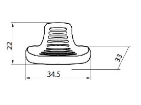 Esquema silla de Taburete para trabajo industria o laboratorio Work-In WK-15