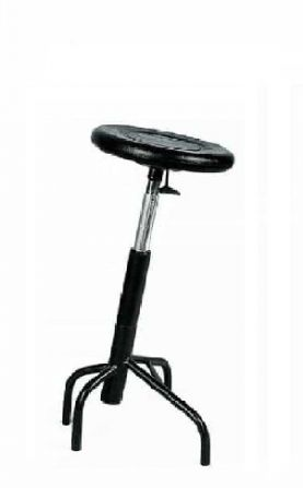 Taburete inclinado giratorio con asiento de elastómero