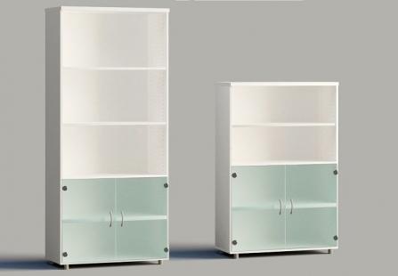 Armarios de puertas bajas de cristal para oficinas