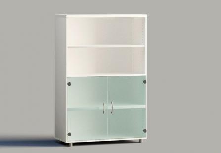 Armarios de puertas bajas de cristal para oficinas 1,40 mts.