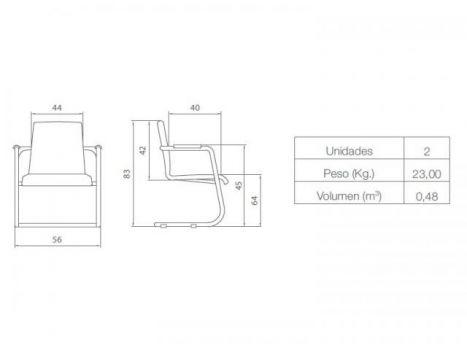 Silla de oficina confidente Custon Diagrama