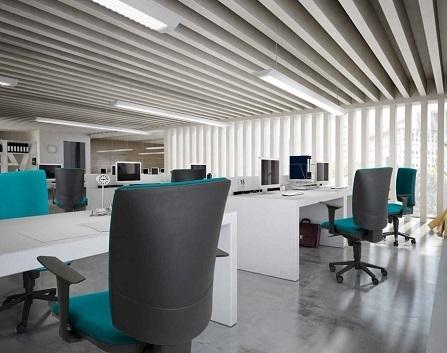Silla de oficina y escritorios