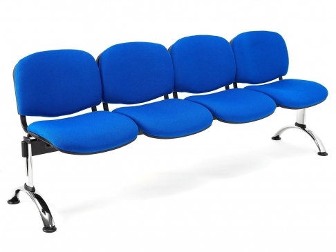 Bancada de oficina para sala de espera ISO P4 de 4 plazas DE SEIMSA
