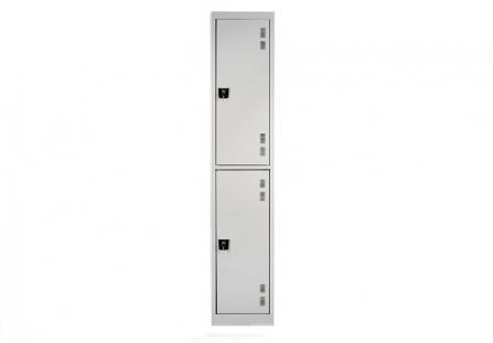 Taquilla metálica de 2 puertas simple
