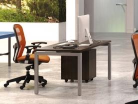 Mesa de Oficina Económica patas de metal gris wenge
