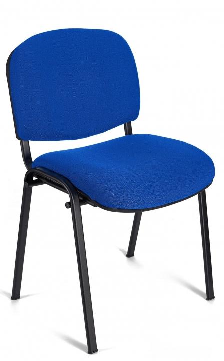 Silla de oficina para confidente Iso color azul estructura negra