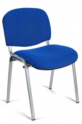 Silla colectividades Iso color azul estructura gris aluminio
