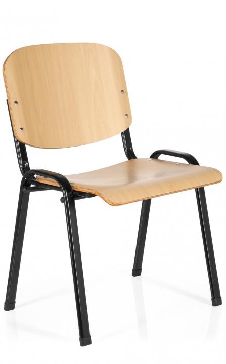 Silla para academias Iso de madera estructura negra