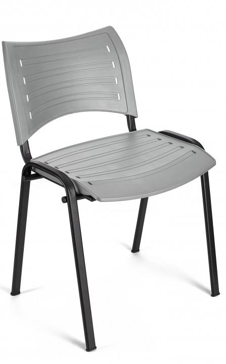Silla para reuniones Iso Smart color gris estructura negra