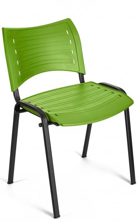Silla colectividad Smart color verde estructura negra