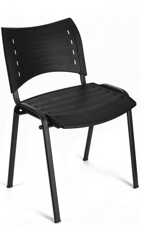 Silla de oficina apilable Iso Smart color negro
