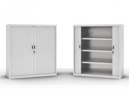 Armario de oficina, metálico con persianas de 145 cm de altura