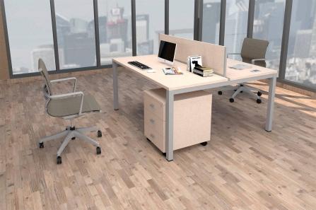 Mesa de Oficina bench de 2 plazas modelo Pórtico
