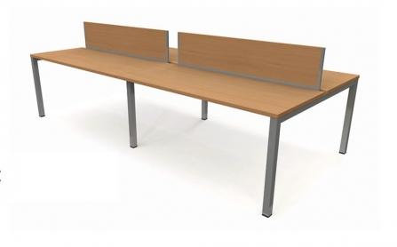 Mesa de Oficina Bench de 4 puestos modelo Pórtico