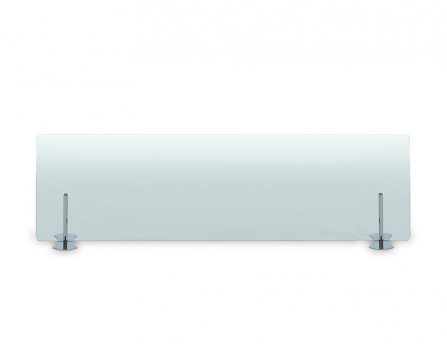 Pantalla anticontagio de Cristal Transparente de Muebles de Oficina Officinca