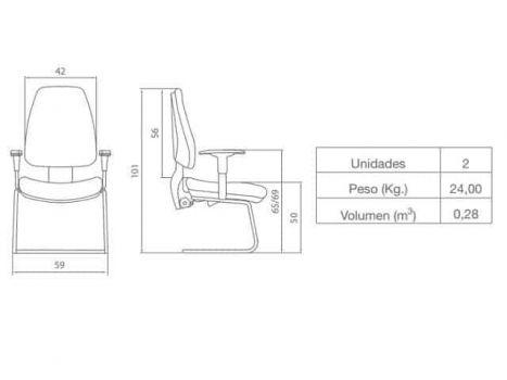 Esquema de armado silla confidente adapta