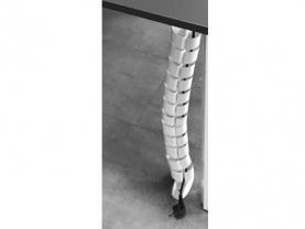 Pasacables ideal para disimular el cableado. Mesa LOG IN. Officinca
