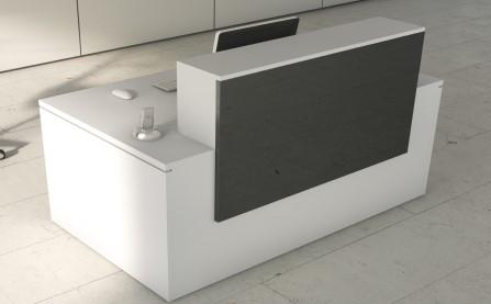 Mostrador de recepción altillo 120 cm New Pano de Ofitres Blanco