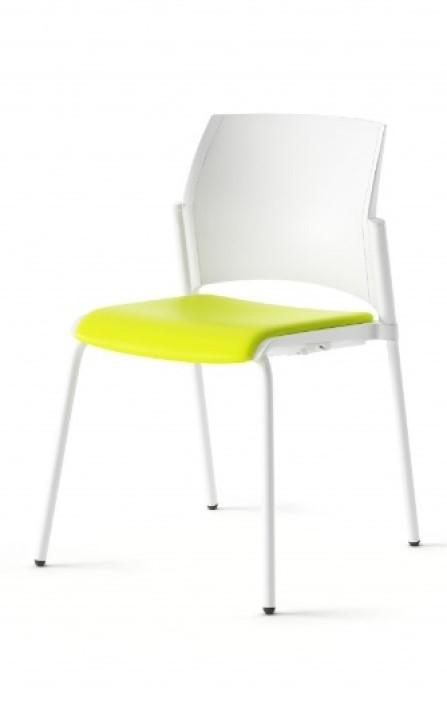 Silla Fresno con respaldo de polipropileno y asiento tapizado