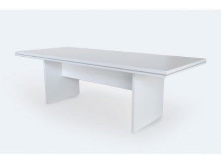 Mesa Clina con base H de melamina. Officinca