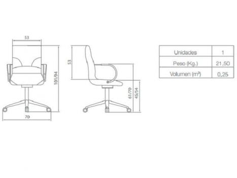 Silla de oficina Boss Diagrama