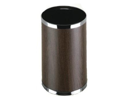 Papelera Basic. PVC  color Madera