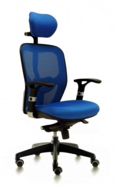 Silla de oficina para dirección y TELETRABAJO modelo Boston azul