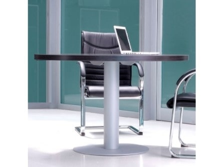 Mesa de reunión Pannel Dúo con base metálica
