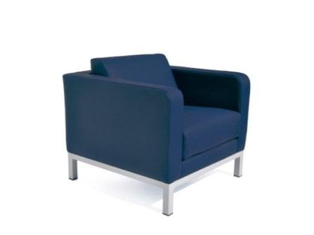 Sofá Quadrum de 1 plaza con tapizado azul
