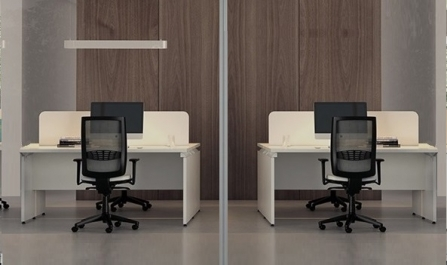 Mesa de oficina bench Ceres de 80 cm de fondo.