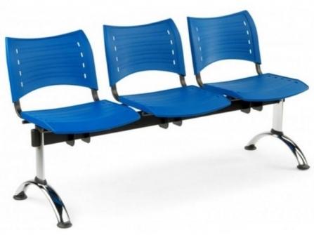 Bancada de oficina para sala de espera ISO SMART de 3 plazas DE SEIMSA