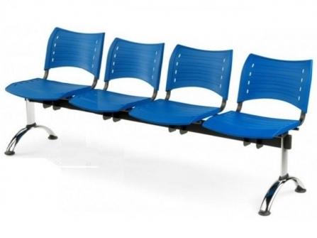 Bancada de oficina para sala de espera ISO SMART de 4 plazas DE SEIMSA