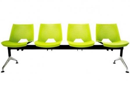 Bancada de oficina para sala de espera  SHELL de 4 plazas DE SEIMSA