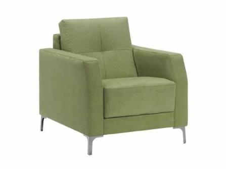 Sofa para oficina o consultorio Astoria de una plaza tapizado Dile Office