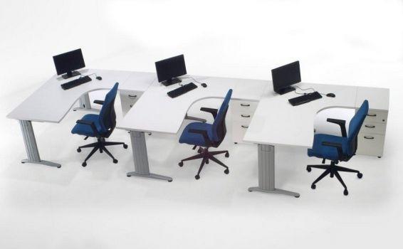 Mesa de oficina punto informático Euro 4000 de Euromof configuración 1