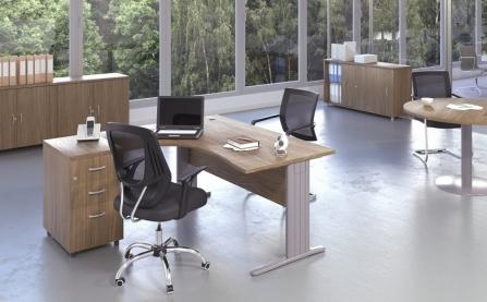 Mesa de oficina punto informático Euro 4000 de Euromof configuración 2