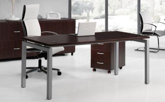 Mesa recta escritorio Euro de Euromof 5000 color wenge