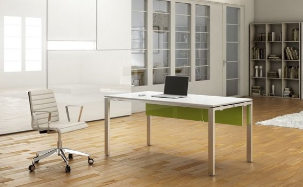 Escritorio mesa de oficina de estructura metálica IPOP de Ofitres vista 2