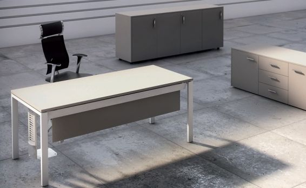 Escritorio mesa de oficina de estructura metálica IPOP de Ofitres vista 3