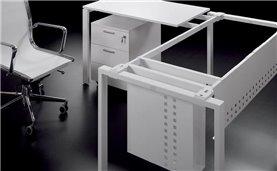 Estructura metálica de escritorio mesa de oficina de estructura metálica IPOP de Ofitres