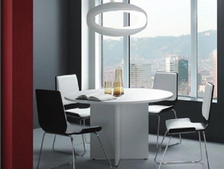 Mesa de reuniones redonda New Pano de Ofitres