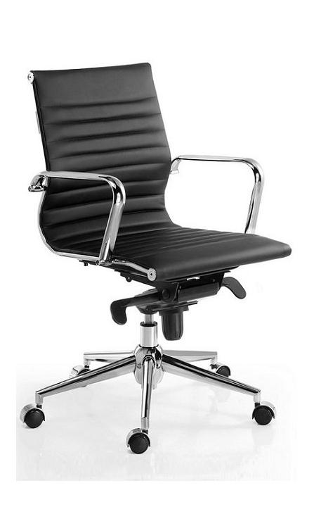 Silla de oficina giratoria Londres Star inspirada en la silla Eames para oficina color negro