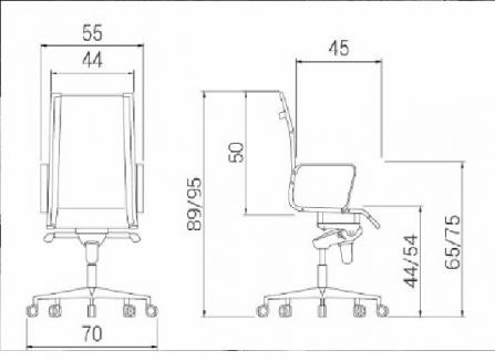 Silla de oficina giratoria Londres Star inspirada en la silla Eames para oficina en Esquema aproximado